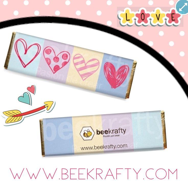 Personalizamos las chocolatinas con lo que quieras. Consíguelas en www.beekrafty.com #pasionporcrear #beekrafty  http://www.beekrafty.com/es/inicio/130-8-chocolates-medianos-de-amor.html
