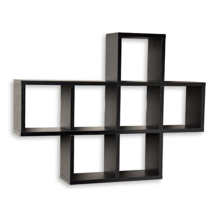 cubby wall shelf wall mounted accent shelves black on wall mount bookshelf id=60167