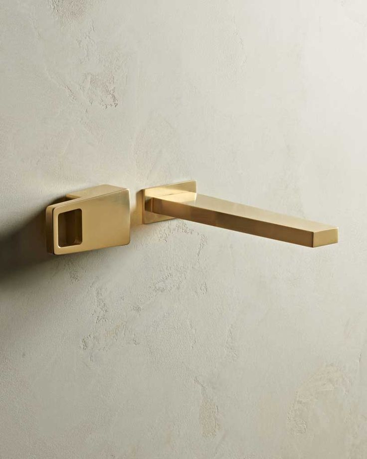 Edge Wall Mounted 2 Hole Basin Mixer Finish: Satin Brass www.thewatermarkcollection.eu
