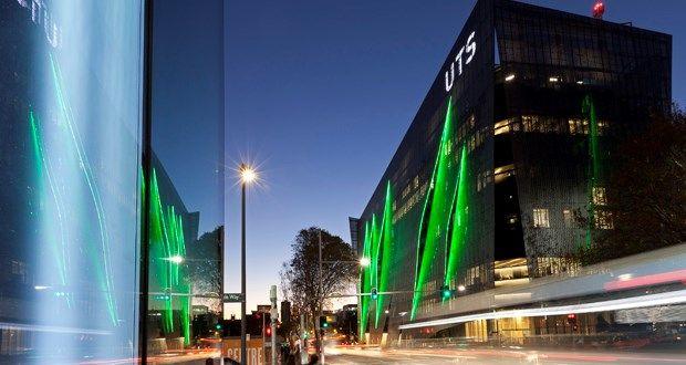 Aluminium binary code screen adorns new UTS building by Denton Corker Marshall | Architecture And Design