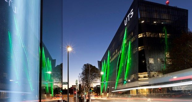 Aluminium binary code screen adorns new UTS building by Denton Corker Marshall | Architecture And Design