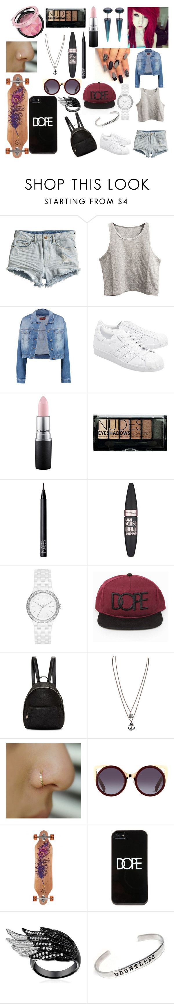 """""""#51"""" by spider-1505 on Polyvore featuring Mode, H&M, 7 For All Mankind, adidas Originals, MAC Cosmetics, Boohoo, NARS Cosmetics, Maybelline, DKNY und STELLA McCARTNEY"""