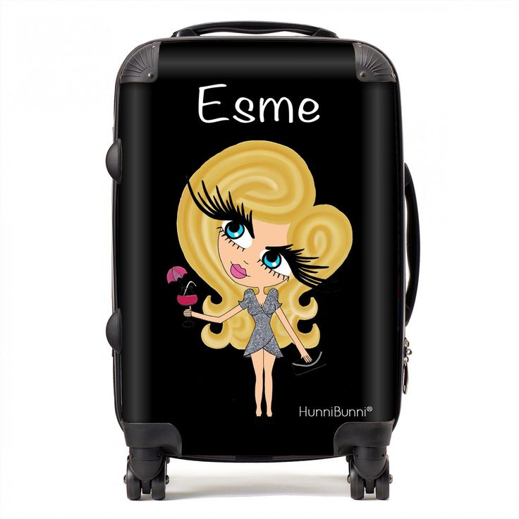 HunniBunni Babes Black Personalised Suitcase