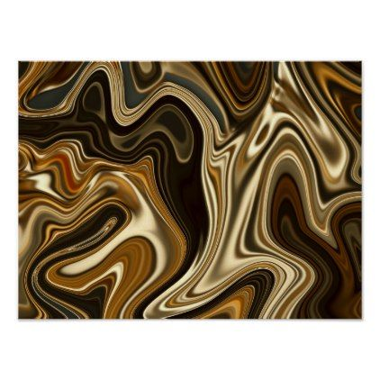 Gorgeous Marble Style - Warm brown Poster - marble gifts style stylish nature unique personalize