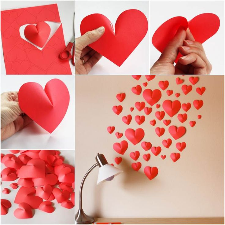 How to DIY Creative Paper Hearts Wall Decor | iCreativeIdeas.com Follow Us on Facebook --> https://www.facebook.com/icreativeideas