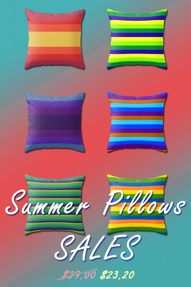 Summer Pillows Sales by Scar Design.  #summersales #summer #sales #save #discount #pillows #summerhouse #homedecor #throwpillow #colorful #modern #colors #society6 #scardesign #homegifts #giftsforhim #giftsfforher #weddinggifts