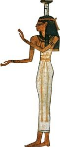 "Nephthys (Neftis): Daughter of Geb & Nut, sister of Osiris, Isis & Seth. Her name means the ""lady of the house"". Portrayed as a woman wearing on her head the symbol of her name. Myths say that Nephthys intoxicated Osiris and seduced him, creating Anubis. It was her affair with Osiris which enraged Seth and was one of his motives for murdering Osiris. Since the earliest of times, Nephthys was considered to be Seth's counterpart and wife. Even so, she helped Isis search and rebuild Osiris'…"