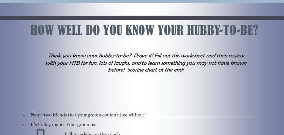how well do you know your #fiance #quiz #downloadable #printable #writing #bride #groom