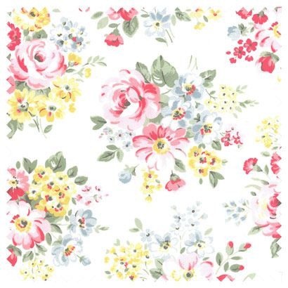Great Upholstery fabric.Spring Bouquet Cotton Duck