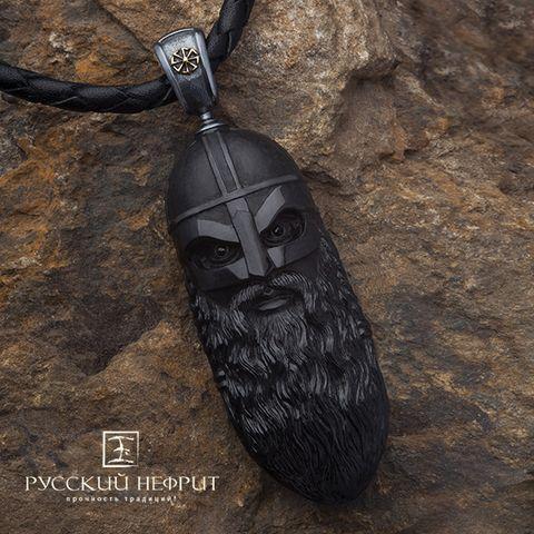 "Подвес амулет ""Перун"". Чёрный нефрит, серебро. Suspension the amulet ""Perun"". Black jade and silver."