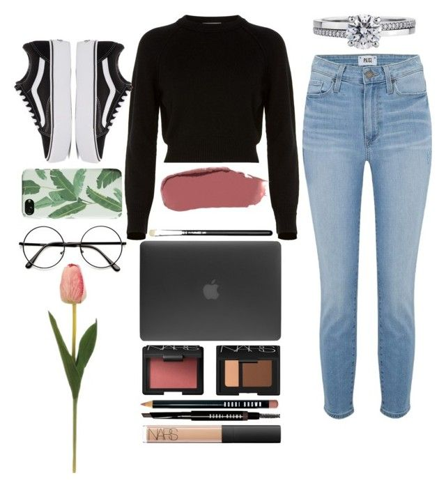 Untitled #188 by emmely201 on Polyvore featuring polyvore fashion style Helmut Lang Paige Denim Vans Incase De Beers Ilia NARS Cosmetics Bobbi Brown Cosmetics MAC Cosmetics clothing