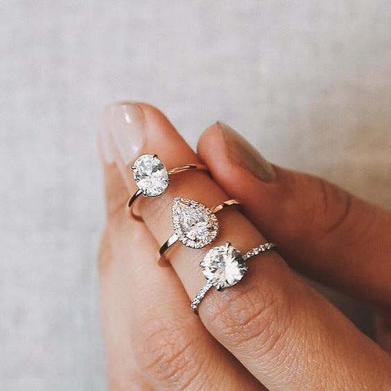The perfect triad of engagement rings. I would love to have any of these