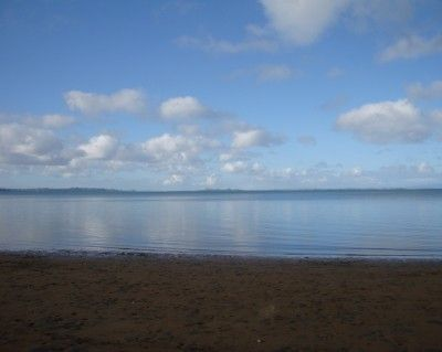Calm day on the Manukau Harbour, Auckland, New Zealand
