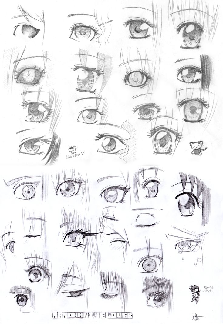 More manga eyes by MangaAnimeLover.deviantart.com