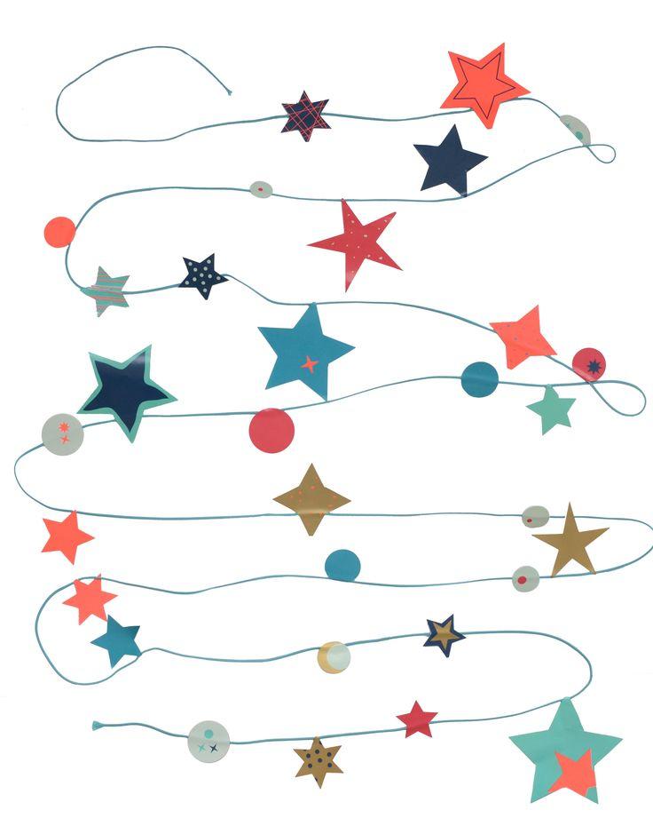 Be a star - Altijd onder een sterrenhemel liggen 's nachts en overdag en waar je maar wilt. Dat kan met deze vrolijke sterrenslinger. Maak de sterrenslinger precies zoals jij wilt! Met neon en goud voor een extra feestelijke effect.  Bedenk van tevoren hoe je de sterren (4 stickervellen) verdeelt over het blauwe draad (5 meter) en vouw ze daarna voorzichtig om. Houd 50 cm ruimte vrij aan beide uiteinden voor het ophangen van de slinger.  De slinger is ook leuk om op te sturen. Op het ...