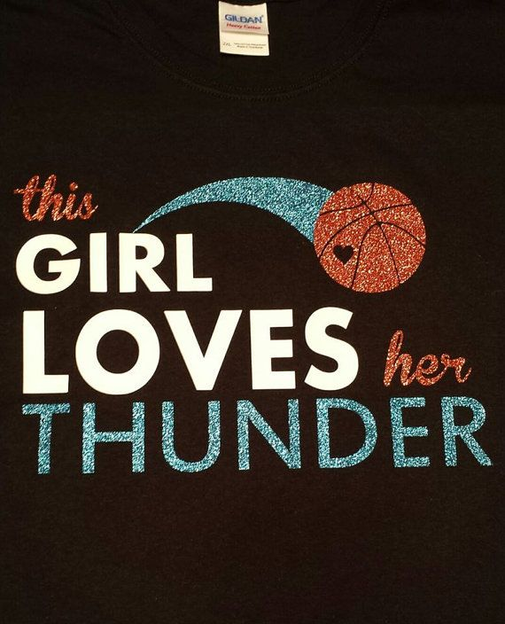 This Girl Loves Her Thunder OKC Oklahoma City by MissyLuLus