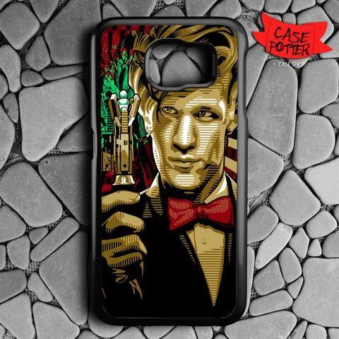 Doctor Who Matt Smith Samsung Galaxy S7 Black Case