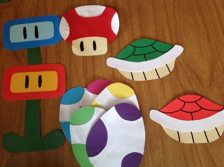 Super Mario Door Tags Video Game Decor Christmas Tree Themes Ra Ideas