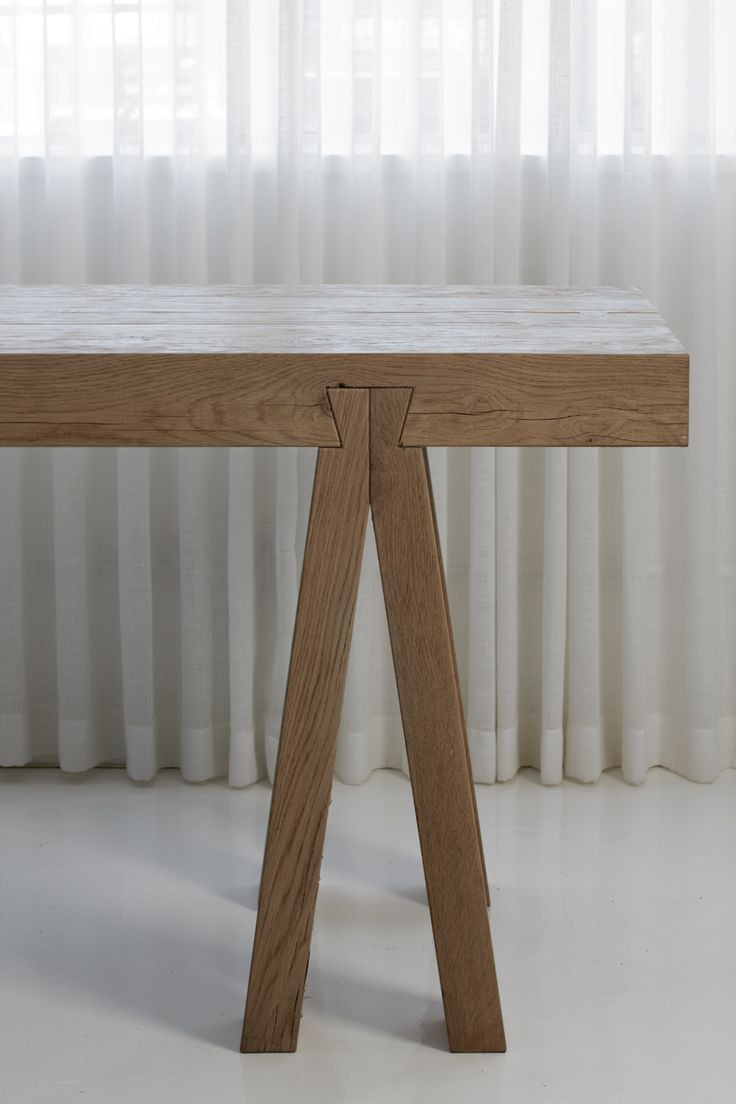 Details we like / Table / Wood / Schwalbenschwanz / Connection / Wood Work ( furniture / at iamadreamer (Furniture Designs Wooden)