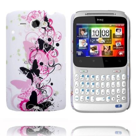 Valentine (Black Butterflies) HTC ChaCha Cover