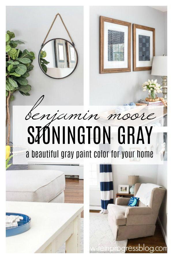 Favorite Paint Colors Benjamin Moore Stonington Gray Living Room