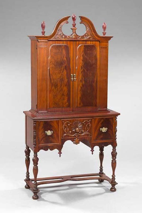 Early 1900 Colonial Revival Cabinet, Tobey Furn Co, Chicago, Mah, 75t,  6 8h. | Maker   Tobey Furniture Company, Chicago, 1856 1954 | Pinterest |  Furniture ...