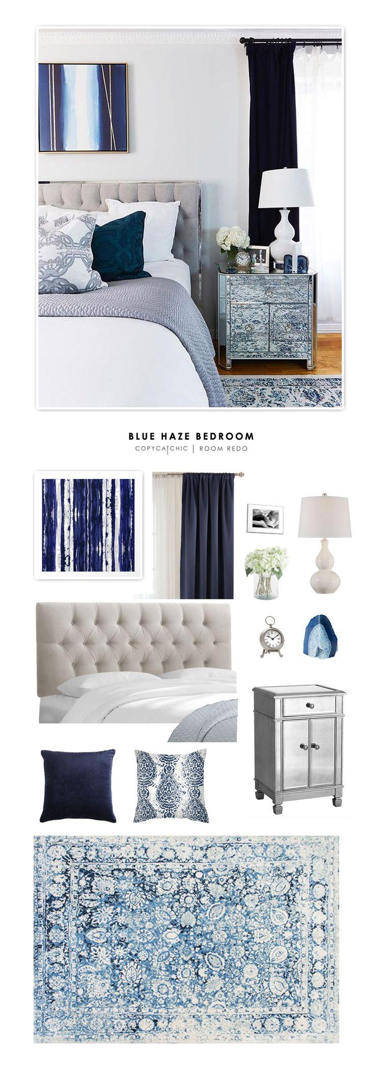 Copy Cat Chic Room Redo | Sophisticated Blue Bedroom | Copy Cat Chic | Bloglovin'