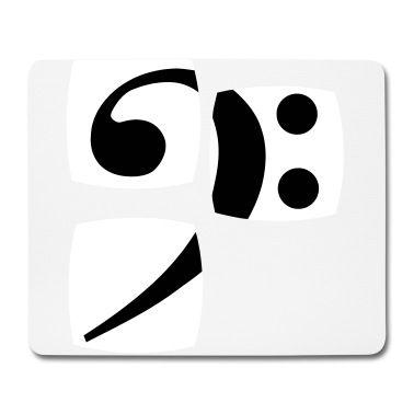 Mouse pad con La chiave di basso per i musicisti della nostra serie  mostra i suoi bassi bassisti giocatore. - Mouse pad, creazione di Quentin1984. Disponibile in diverse taglie: ordina questo prodotto adesso su Spreadshirt!