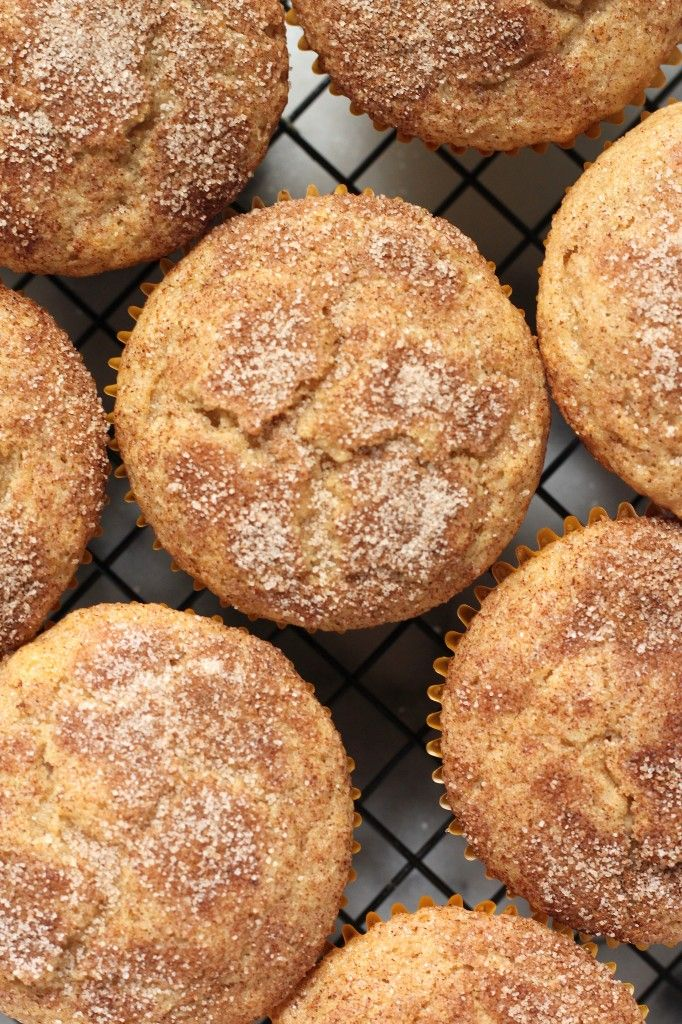 (Vegan) Cinnamon Sugar Doughnut Muffins - These soft, fluffy, cinnamon sugar muffins are so delicious you'll never even notice they're vegan! Perfect for breakfast!