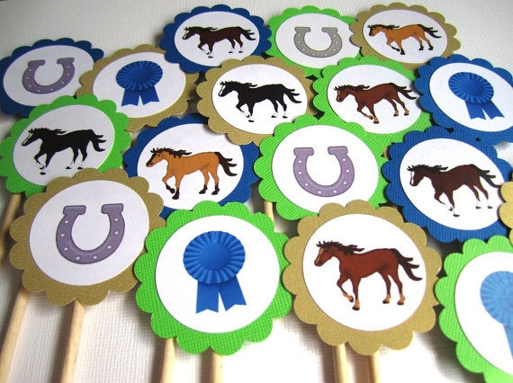 Horse Kentucky Derby Cupcake Toppers Horse Party Ideas