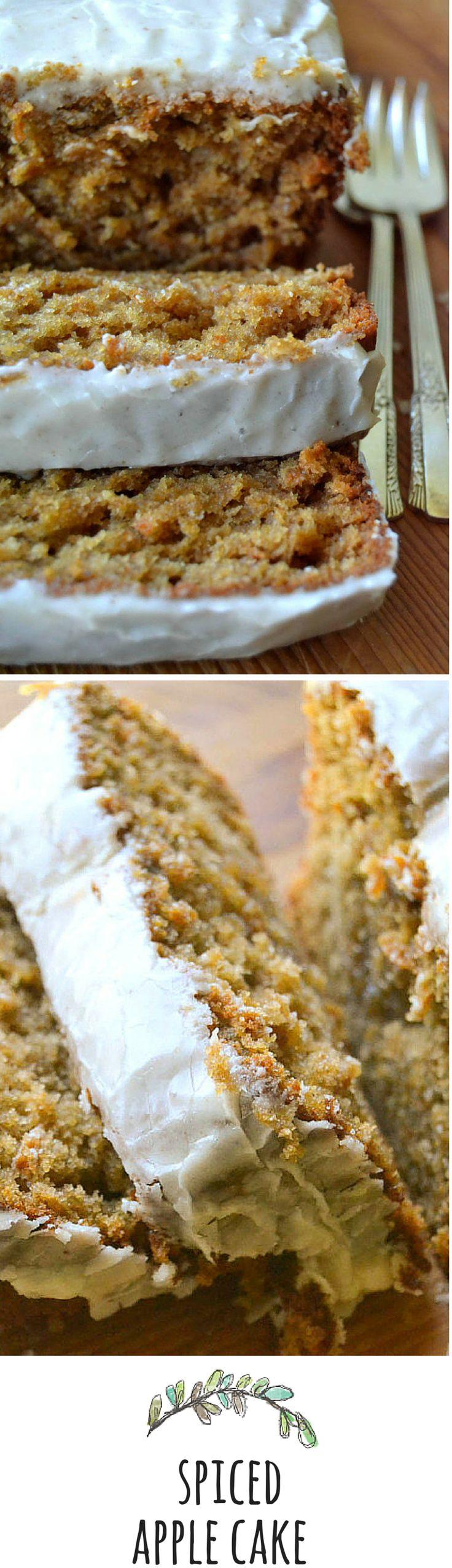 Apple butter in the batter makes the texture of this cake moist and fluffy... #applecake #poundcake #fall #bestapplecake #spicecake #recipe #easycake #bestspicecake