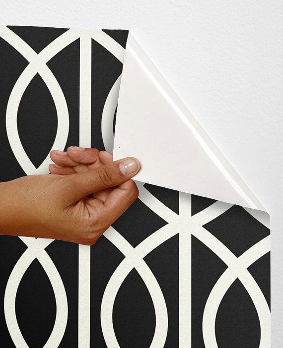 Removable self-adhesive modern vinyl material  Wallpaper wall sticker -  Rope circle pattern C020