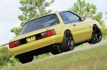 1987 Ford Mustang Lx Coupe Rear Side View
