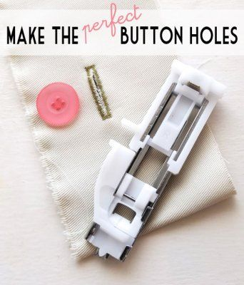 Perfect Buttonholes Tutorial. I love this buttonhole foot. Janome machines. My Babylock Sofia2 uses the same system.