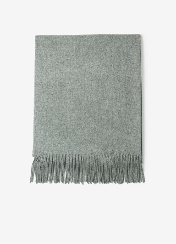COPENHAGEN SCARF - Grey Melange
