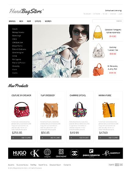 Handbag Boutique Magento Themes by Delta