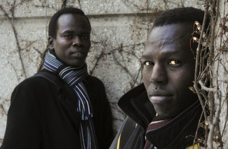 """Malihi Ayii Tok (left) and Thon Simon  Kuany were two of the """"Lost Boys"""" of Sudan. They escaped civil war and eventually made it to Toronto, where they were planning to vote in Sunday's independence referendum."""
