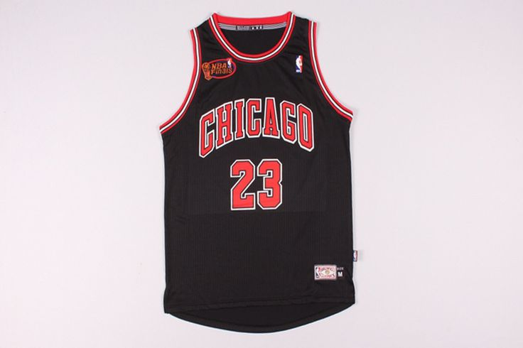 #23 Michael Jordan Bulls final jersey black (heat applied)