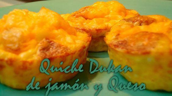 Dieta Dukan | Contigo paso a paso. Recetas, información y guia.: QUICHE DE JAMÓN Y QUESO- FASE ATAQUE