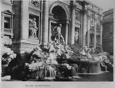 Vintage 8 X 10 Photograph 1929 Rome. Up Close, the Trevi Fountain Historic Photo