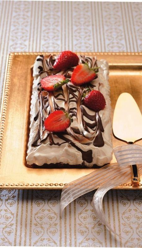 Heavenly chocolate fridge tart