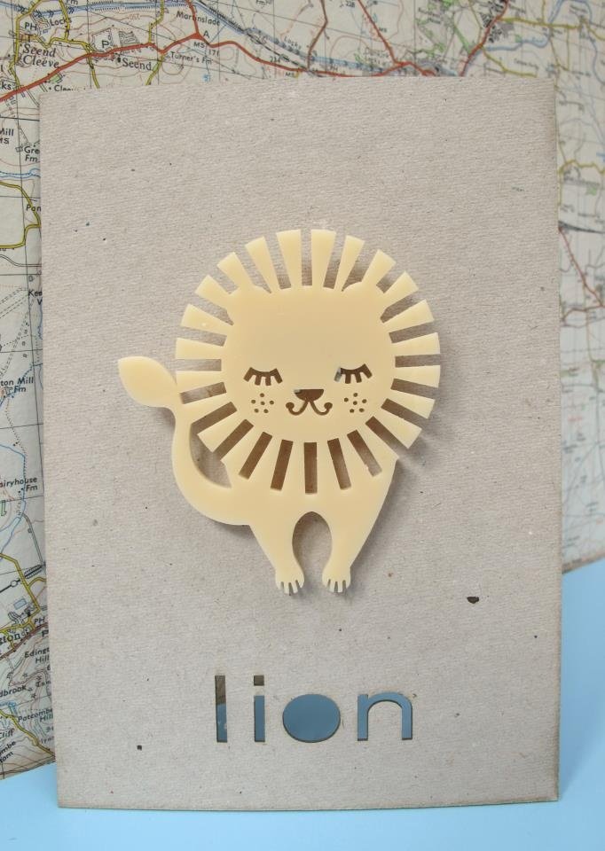 Lion brooch £14.95. Available from http://lionstreetstore.tumblr.com/