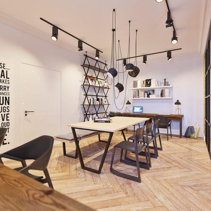 Офисное пространство - 3D-проекты интерьеров в стиле лофт | PINWIN - конкурсы для архитекторов, дизайнеров, декораторов