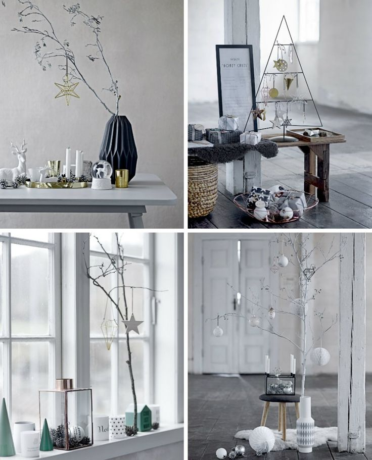 Zwart Wit is prachtig voor kerst! Doe inspiratie op voor een zwart-witte kerstversiering in huis op www.christmaholic.nl!