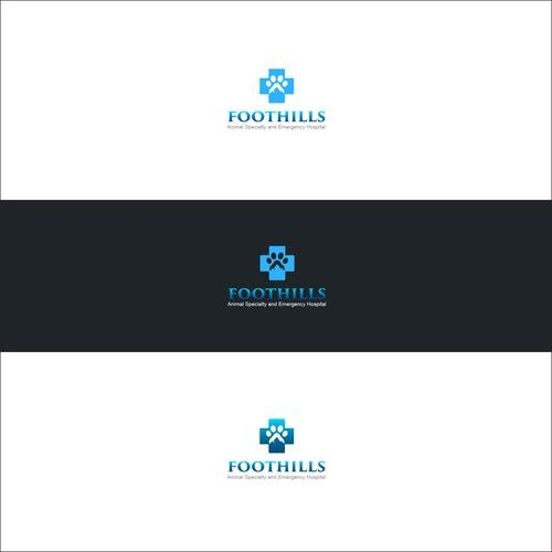Create a unique compelling veterinary logo for Foothills Animal Specialty and Emergency Hospital