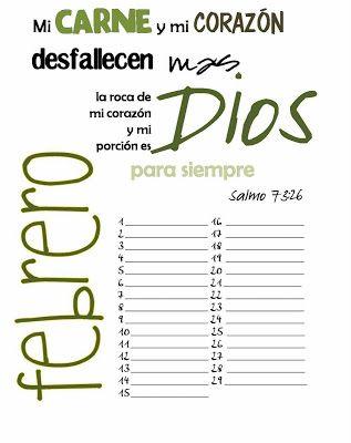 Calendario 2012 con versículos