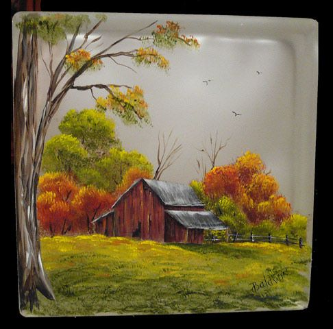 LOVE this fall scene block