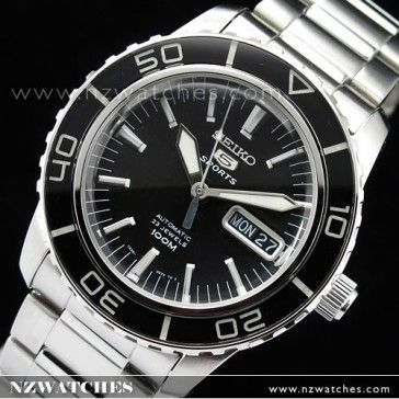 BUY Seiko Mens Automatic Hardlex Crystal Black SNZH55K1 - Buy Watches Online | SEIKO NZ Watches