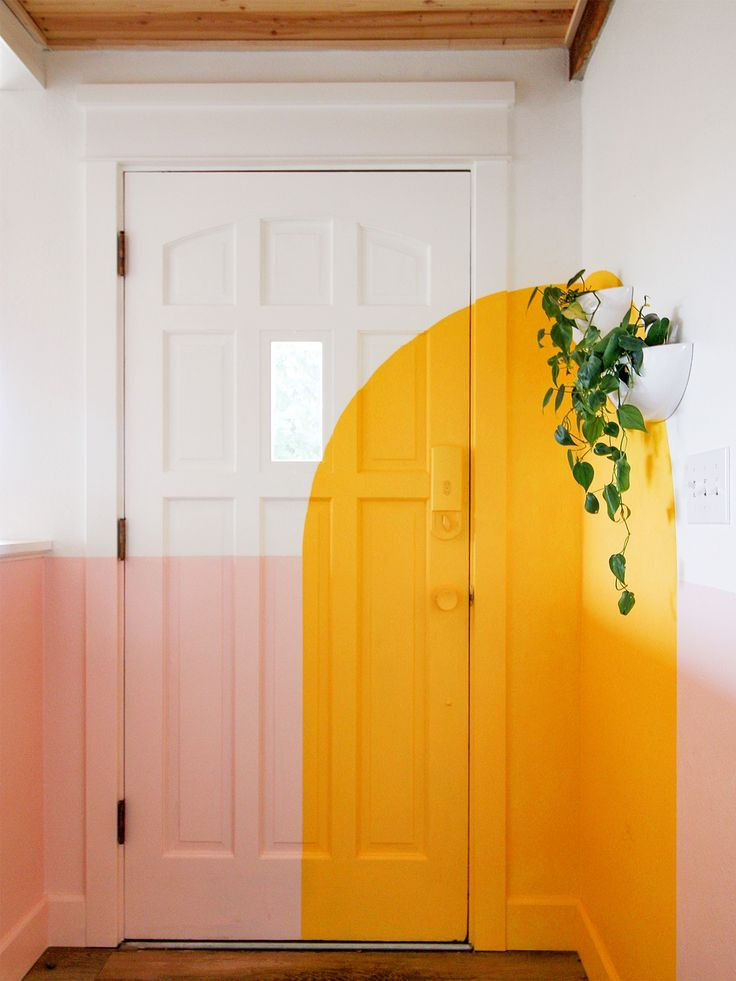 4 Mural Ideas We Learned from Muralist Racheal Jackson's Home front door paint D. 4 Mural Ideas We Learned from Muralist Racheal Jackson's Home front door paint DIY ideas