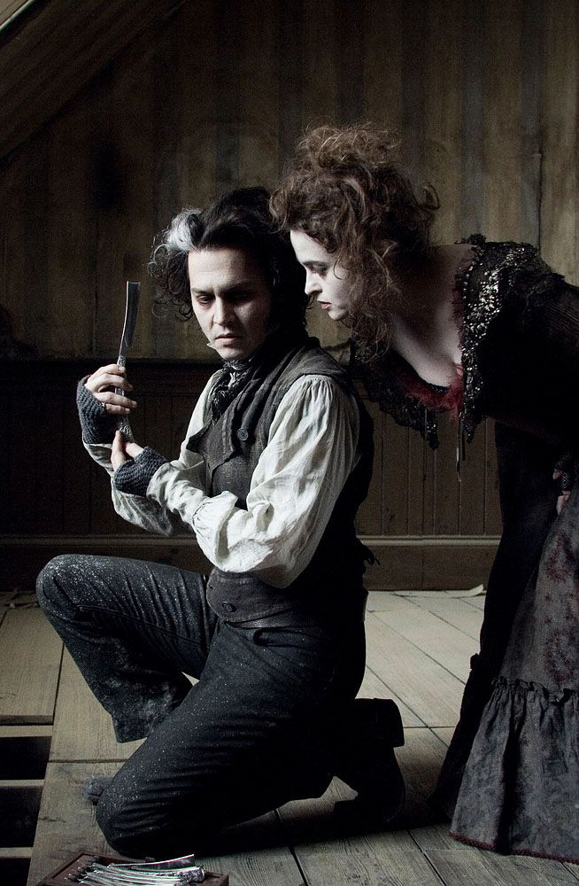 Johnny Depp & Helena Bonham Carter in Sweeney Todd